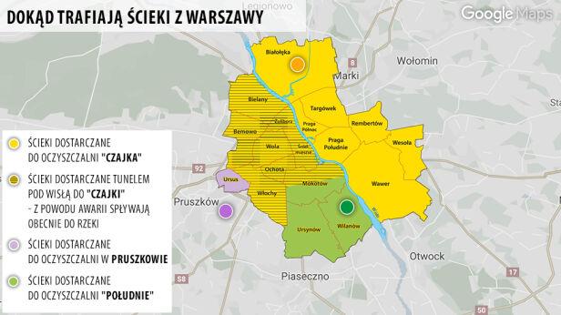 Dokąd trafiają ścieki w Warszawie?  tvnwarszawa.pl