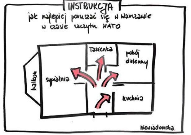 Karykaturzystka radzi, jak poruszać się po Warszawie  Niewiadomska