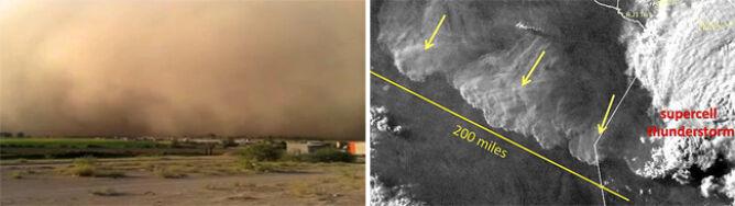 322-kilometrowy habub nad Meksykiem. Zobacz zdjęcie i nagranie giganta