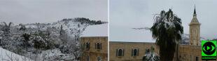 """Jerozolima pod śniegiem, """"nic nie jeździ"""""""