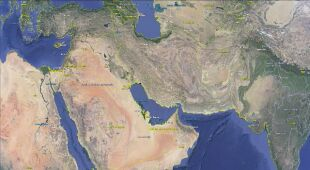 Lokalizacja środowego trzęsienia ziemi w Iranie (Google Earth)