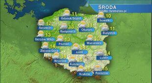 Prognoza pogody na środę 13.05