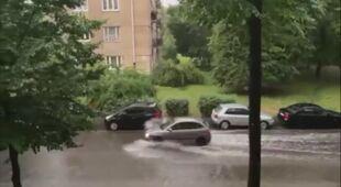 Zalane ulice w Krakowie